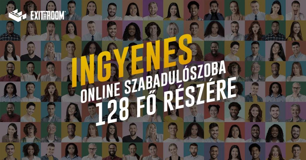 Ingyenes online szabadulószoba 128 fő részére